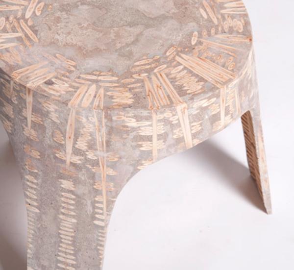 Креативная мебель из смолы и дерева.