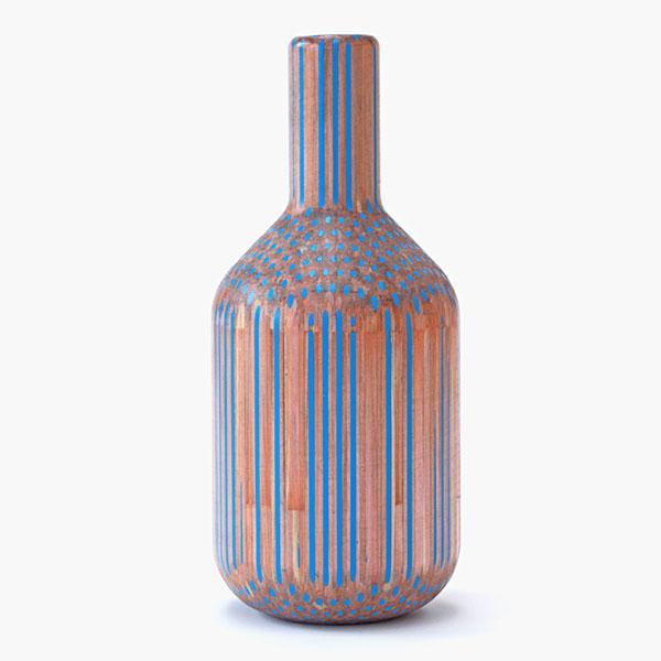 Vaso de lápis de cor.