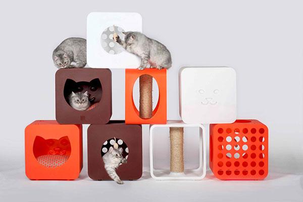 Модульные домики для кошек.