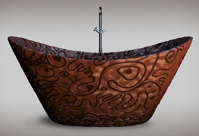 Ванна из настоящего бельгийского шоколада.