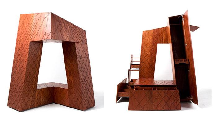 Гардероб, вдохновленный архитектурным сооружением.