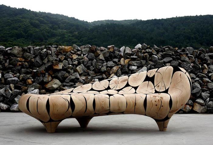 Потрясающая скульптурная мебель.