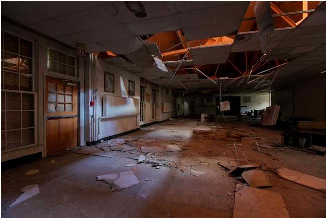 Заброшенная психиатрическая лечебница Letchworth Village.