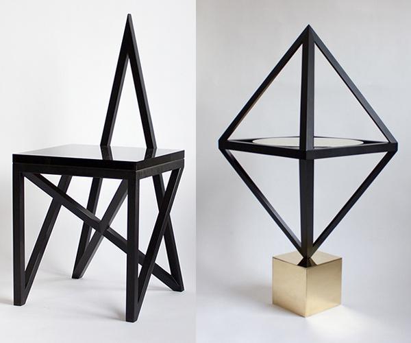 Черная мебель от Lauren Larson и Christian Lopes Swafford