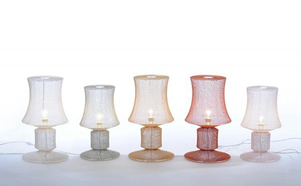 Оригинальные вязаные светильники.