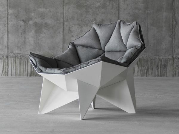 Кресло, вдохновленное геодезическим куполом.