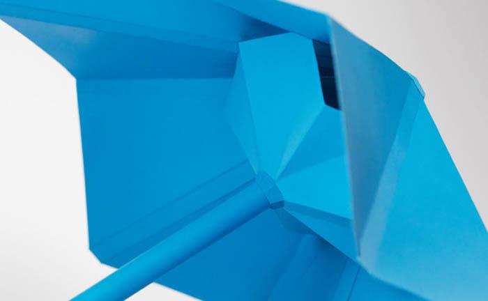 Необычный зонт-оригами.