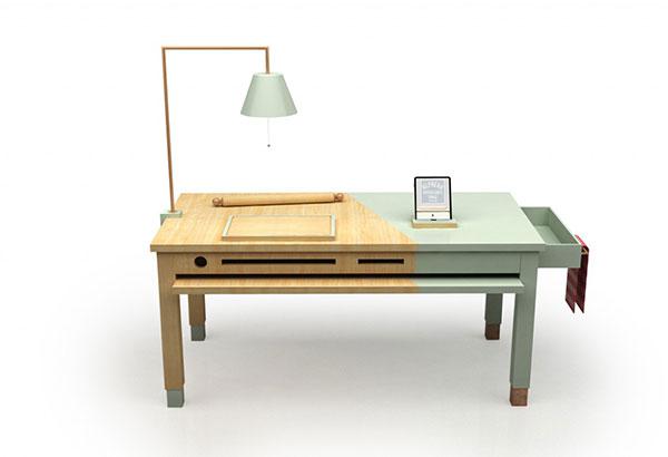 Оригинальный кухонный стол.