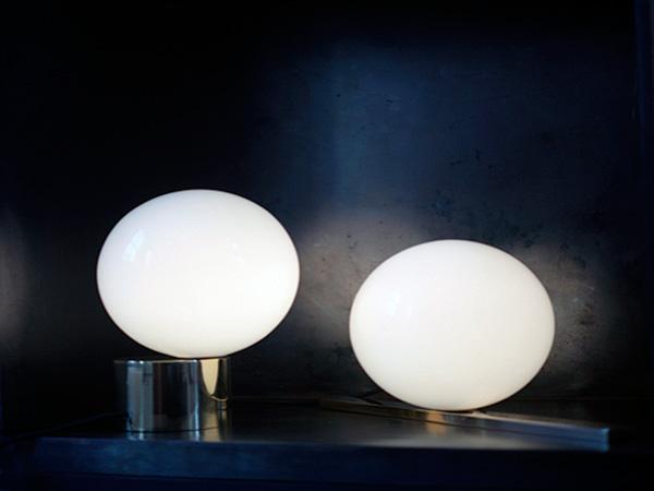 Необычный круглый светильник.