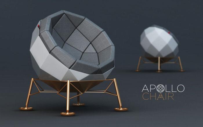 Кресло, сделанное в честь высадки человека на Луну.