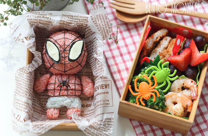 Человек-паук из красного риса.