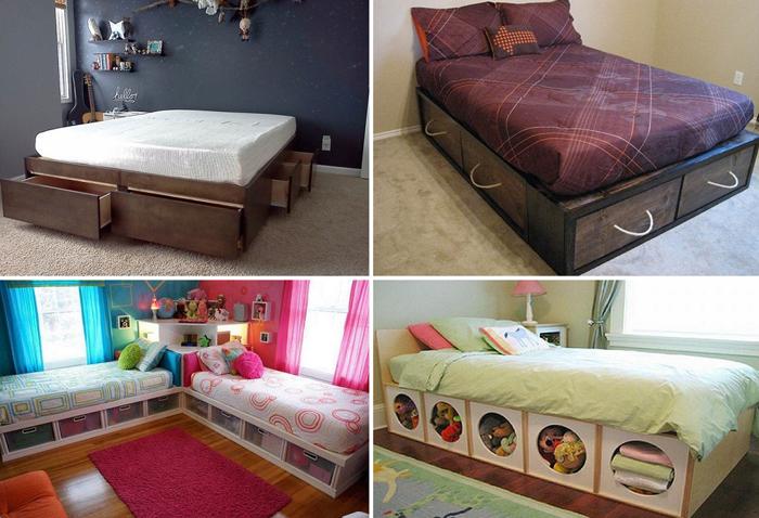 Кровати, экономящие место в спальне.