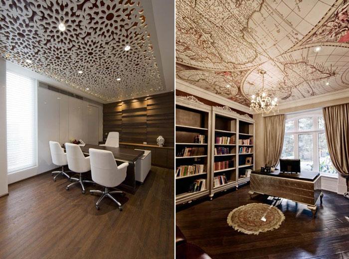 10 идей необычного декора потолка.