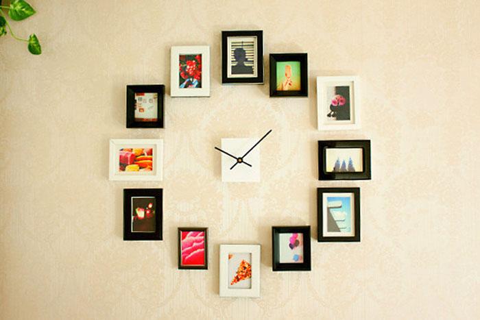 Часы настенные с фото своими руками