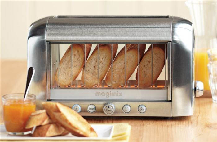 Прозрачный тостер.