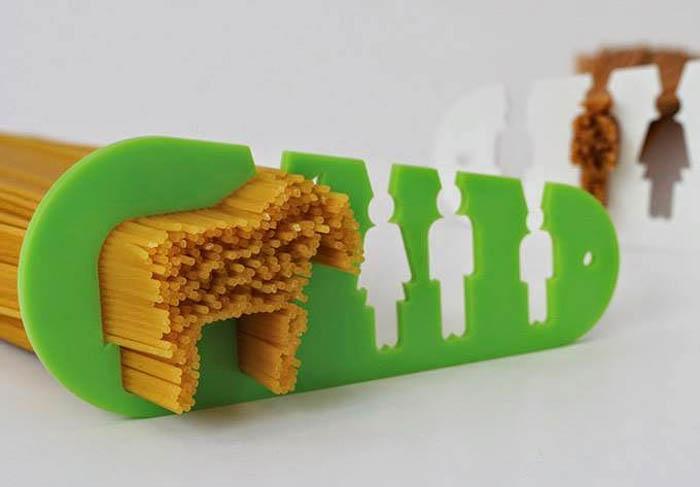 Приспособление, отмеряющее порцию спагетти.
