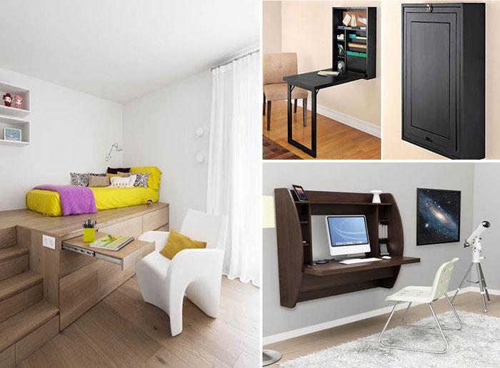10 идей для организации рабочего места в маленькой квартире