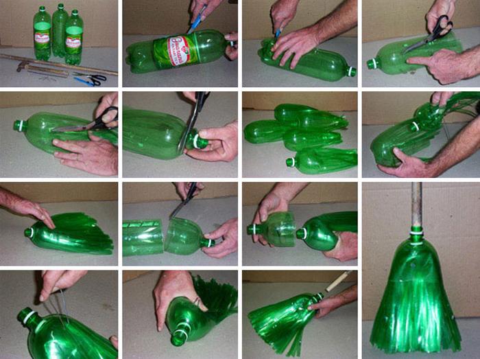 Поделки из пластиковых бутылок для дачи. Мастер 10