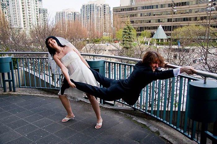 Необычные свадебные фото.