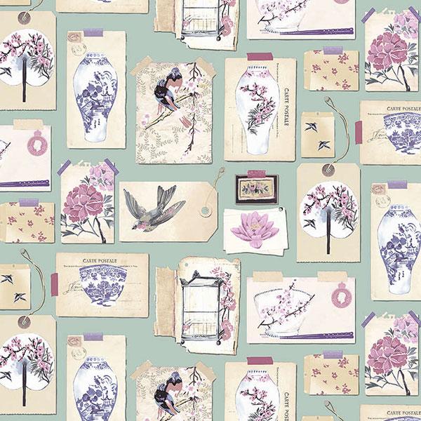 Оригинальные обои с цветочным рисунком от Takaria.