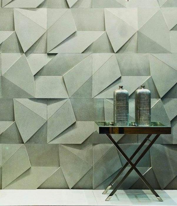 Отделка для стен из простых геометрических фигур.