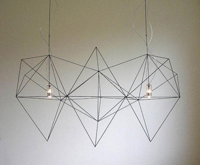 Почти невесомые геометричные светильники.