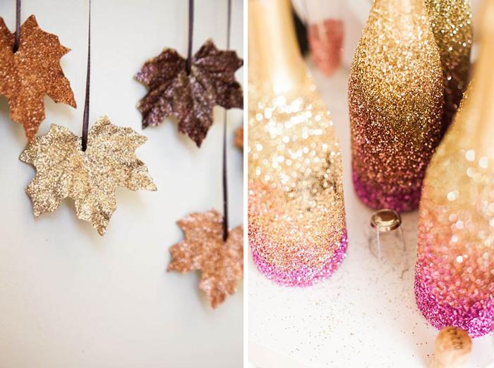 7 идей для украшения дома блестками.
