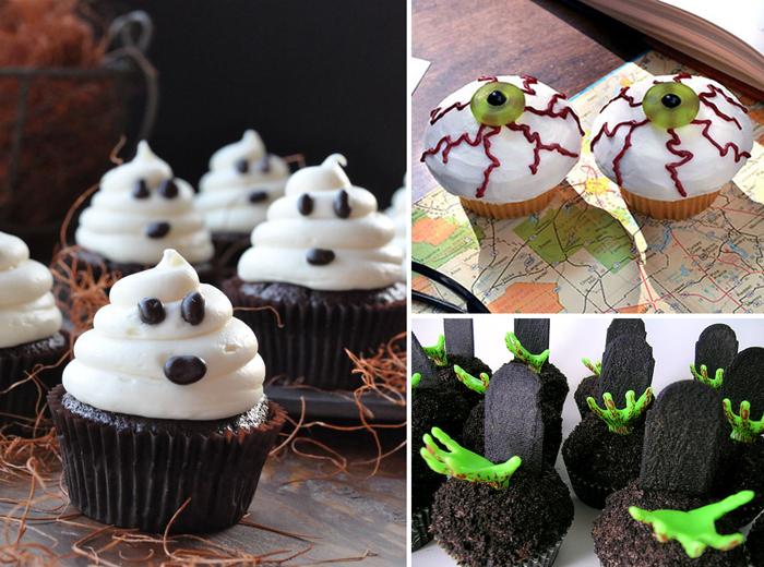 Страшные кексы на Хеллоуин.