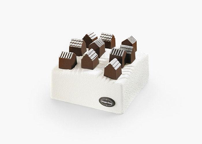 Дизайн торта-мороженого для Hаagen-Dazs.