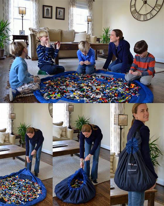 Мешок-коврик для конструктора или паззла.