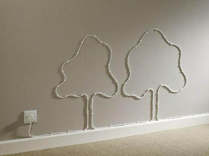 Как украсить дом проводами.