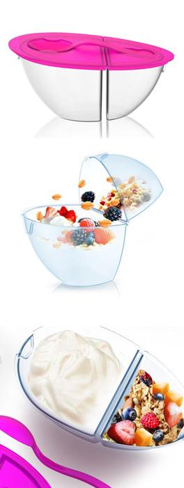 Контейнер для йогурта и мюсли.
