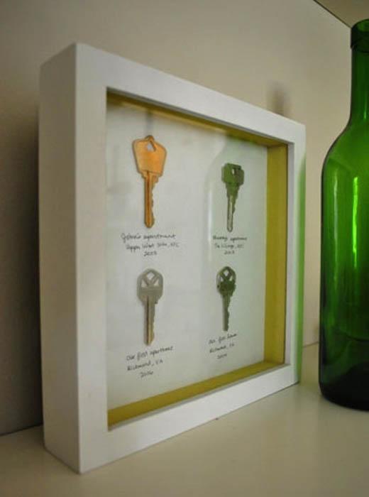 Ключи под стеклом.