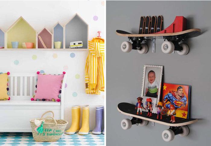 10 стильных полок для детской.