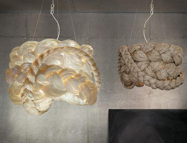 Оригинальные светильники из бумаги.