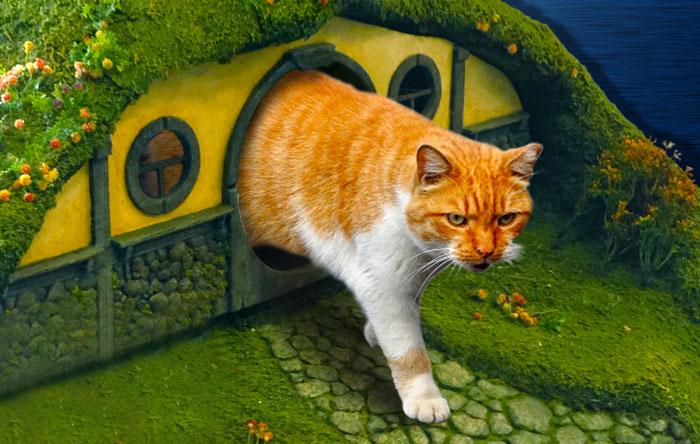 Кошачий домик и когтеточка по мотивам Властелина Колец.