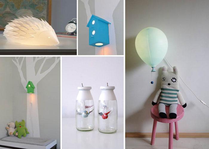 10 ночников для интерьера детской комнаты.