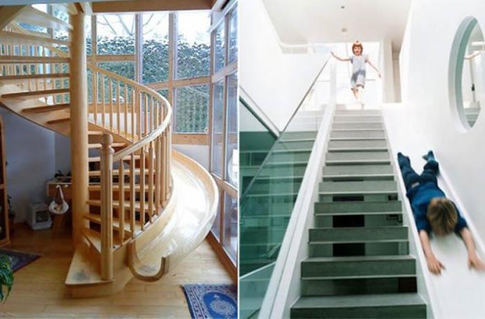 Лестница с горкой для детей.