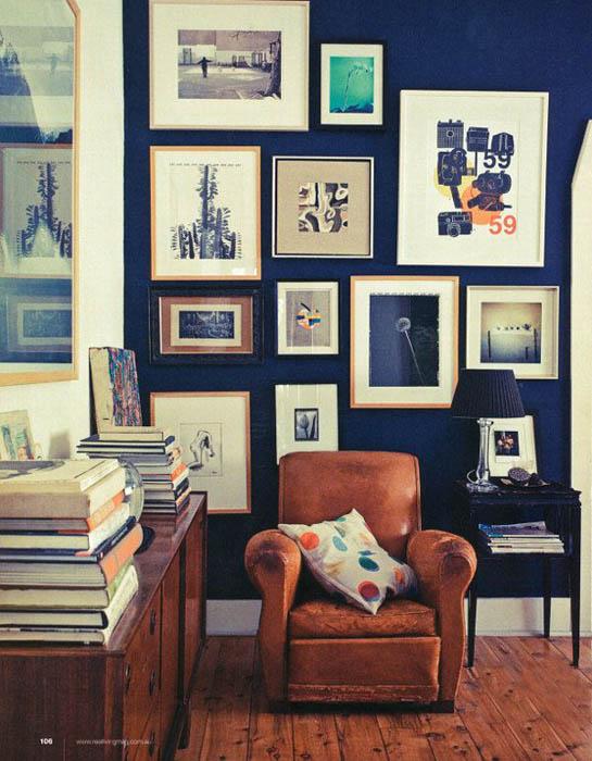 Классический Синий цвет в дизайне дома.
