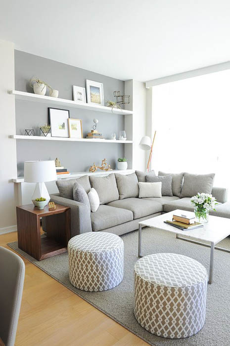 Цвет Серый Ледник в интерьере квартиры.