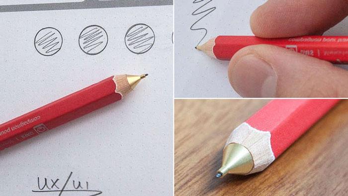 Механический карандаш, похожий на обычный грифельный.