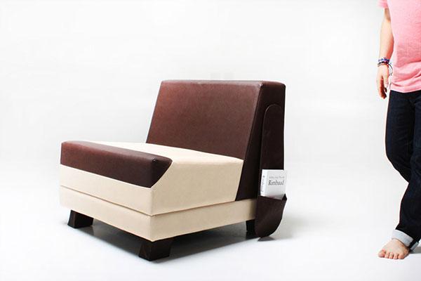 Необычный диван от Monocomplex.
