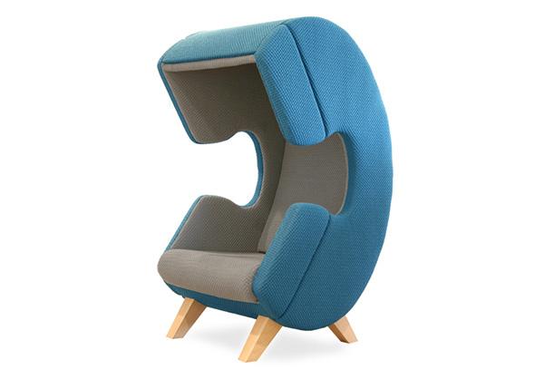 Кресло, где можно сделать приватный звонок.