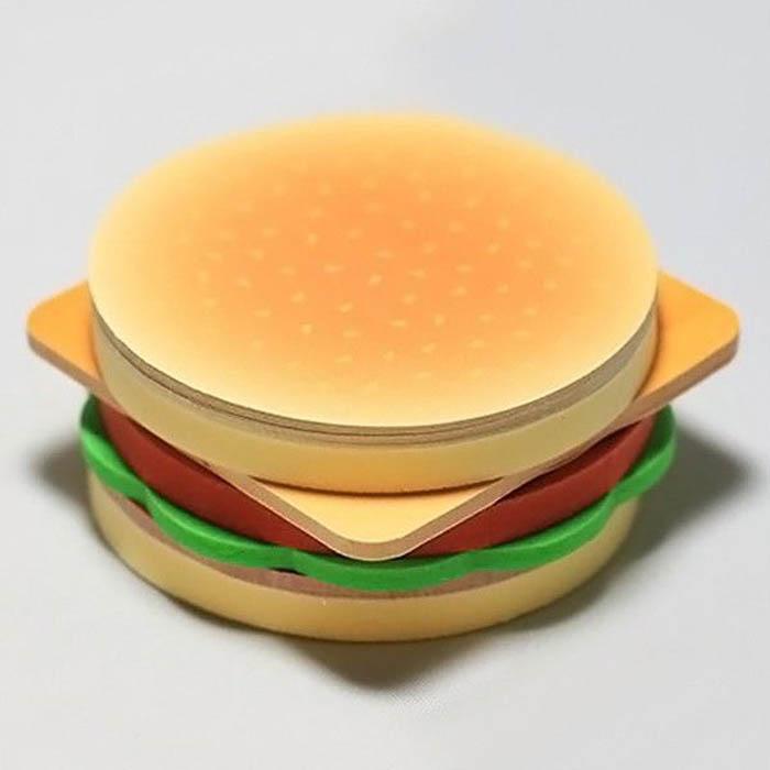 Стикеры в виде гамбургера.