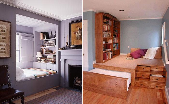 10 крошечных стильных спален.