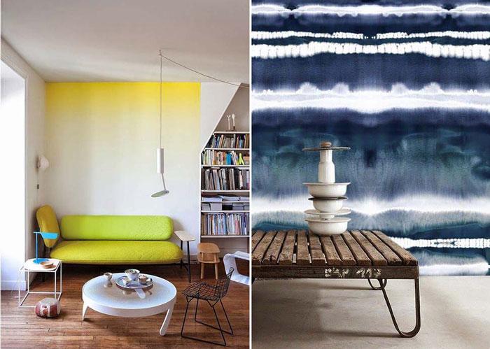 10 примеров акварельных стен в интерьере.