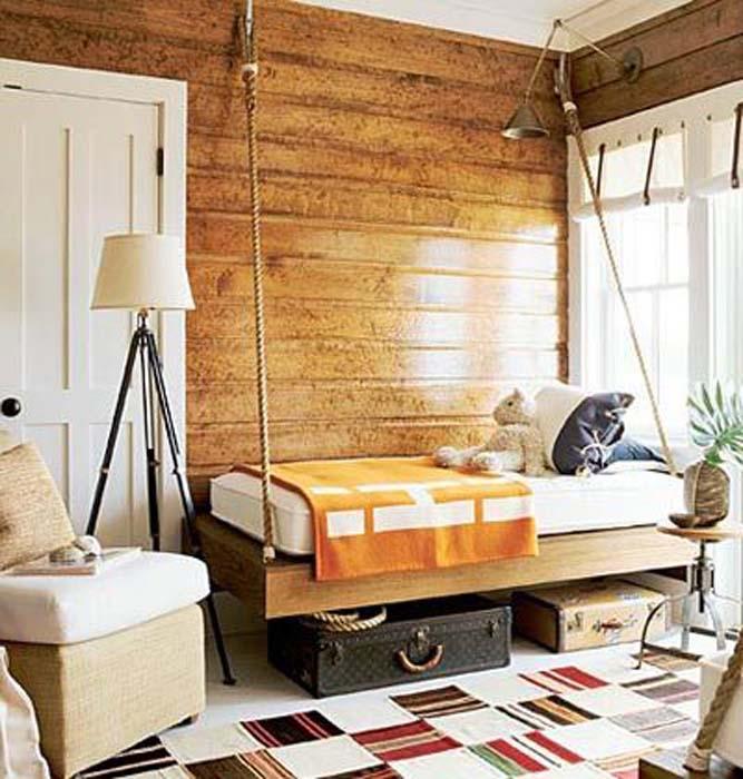 Деревянная отделка стен.