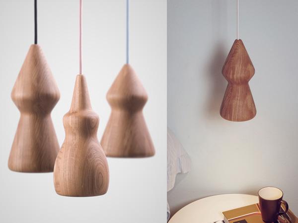 Светильники из дубовой древесины.