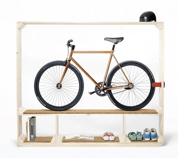 Стеллаж для велосипеда своими