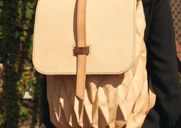 Стильный кожаный рюкзак от дизайнера Стивена Энса (Steven Enns).